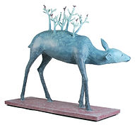 Sadie Brockbank sculpture - Forest Deer