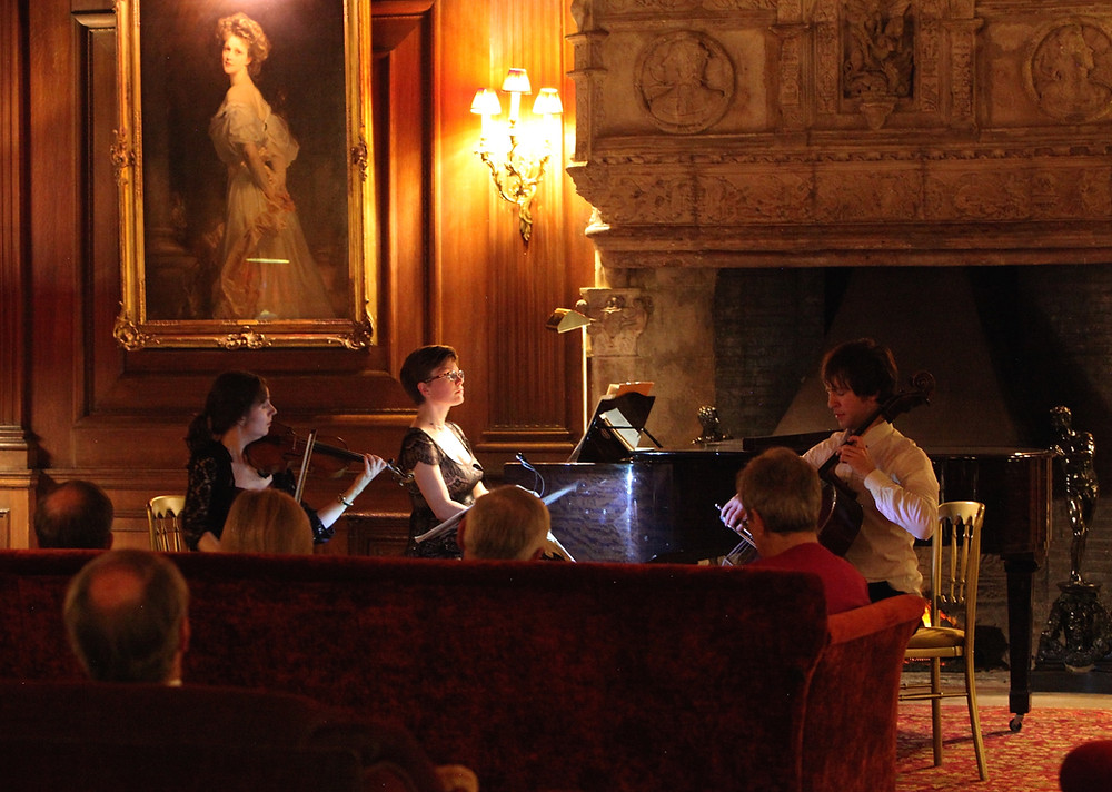 The Odysseus Piano Trio performed works by Beethoven and Brahms in The Great Hall at Cliveden House on Sunday evening. It was a very fine performance and I'm certain that both the great composers would have approved of the wonderful way their works were interpreted by these three exceptional musicians.   Invited guests then had dinner in 'The French Dining Room', Madame de Pompadour's 18th century dining room, brought from the Chateau d'Asnieres by William Waldorf Astor and reconstructed in its entirety at Cliveden; an extraordinary setting for a gourmet meal after an evening of the finest chamber music.  It was a very special evening and thank you to all who attended.
