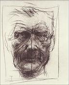 Alan Flood / Samuel Beckett / etching