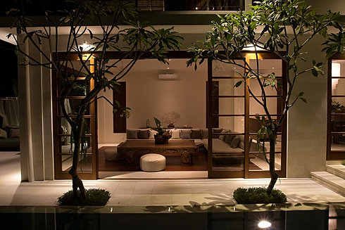 TROPICAL MINIMALIST Living Room By Canela Bali
