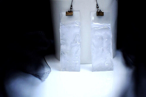 01/TRANSPARENT upcycled earrings