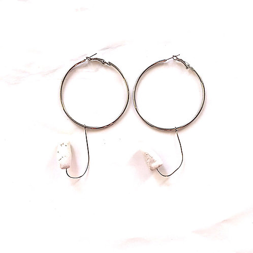 47/ 彫刻 earrings