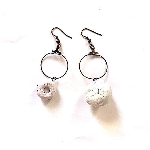 36/ 彫刻 earrings