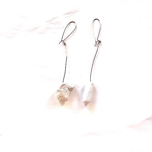 46/ 彫刻 earrings