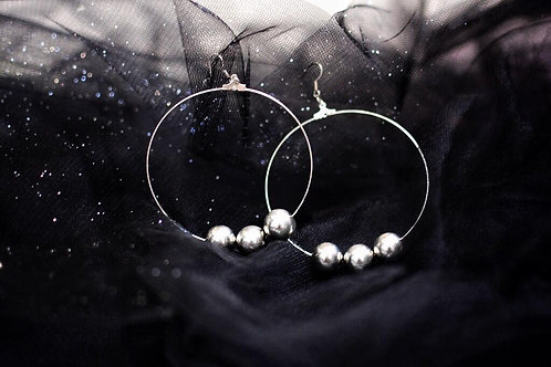01/MIRROR PEARL upcycled earrings