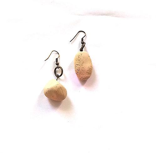 14/ 彫刻 earrings