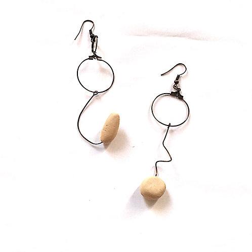 15/ 彫刻 earrings