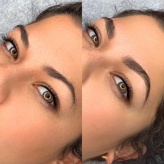 Before and After Brow Lamination