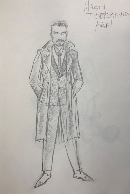 Costume Sketch of Nasty Interesting Man
