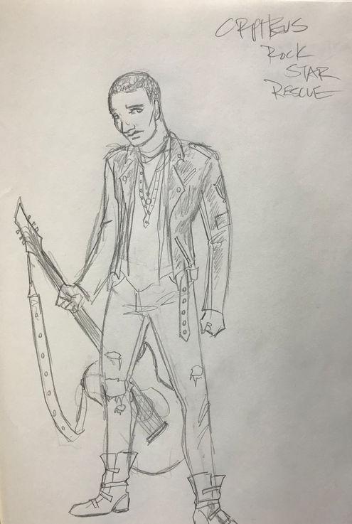 Costume Sketch of  Orpheus Rescue
