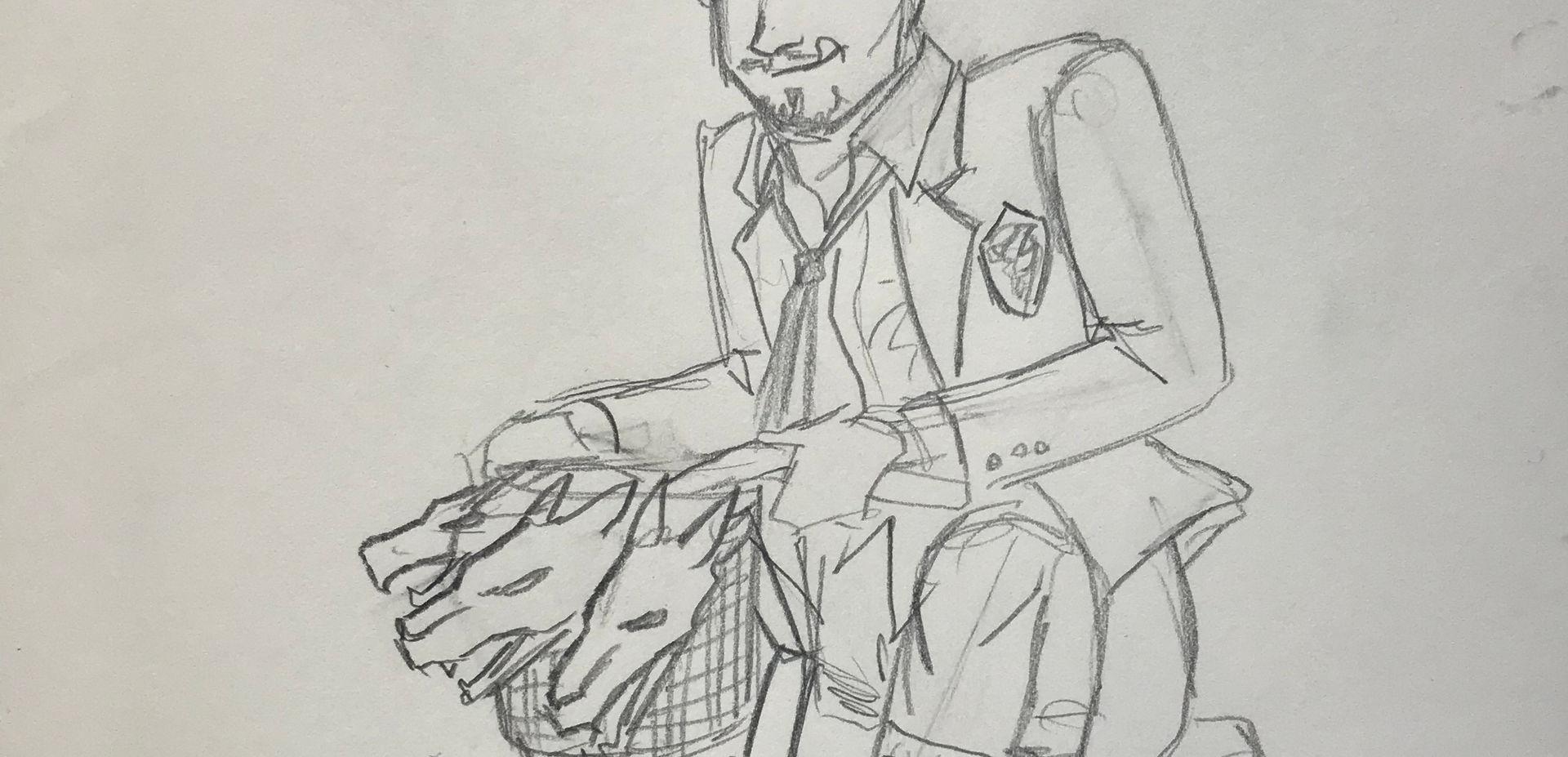 Costume Sketch of Child