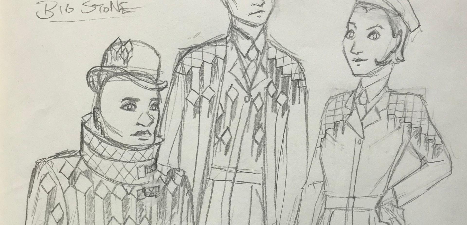 Costume Sketch of Stones