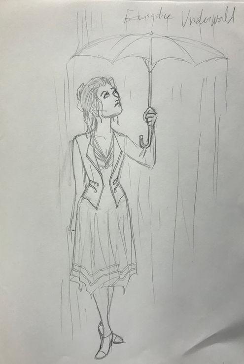 Costume Sketch of Eurydice Underworld