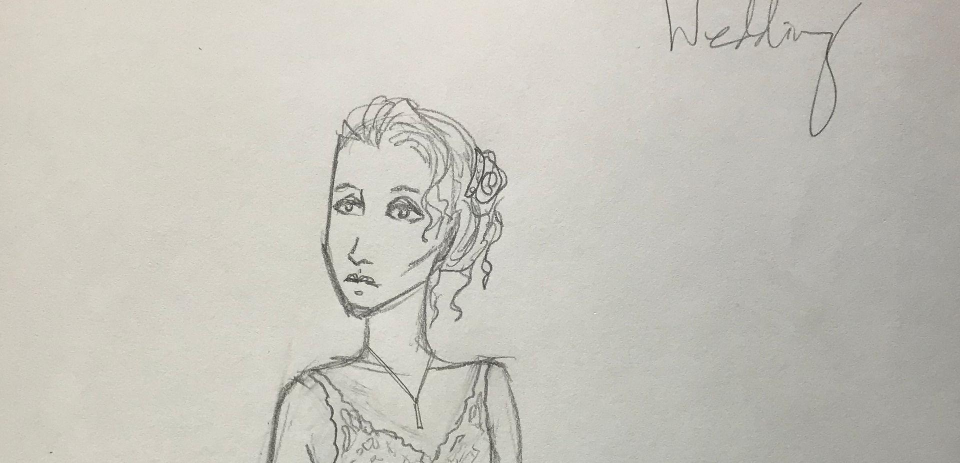 Costume Sketch of Eurydice Wedding