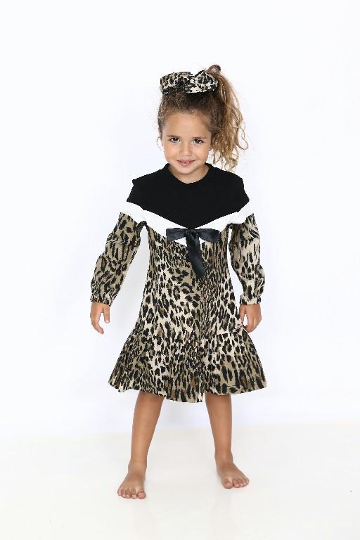 שמלה מנומר malaya | מאליה אופנת ילדים