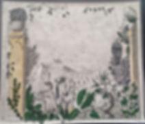 fresque 150 x 150 cm
