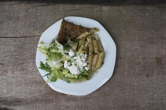 Frittata van melde en broccoli