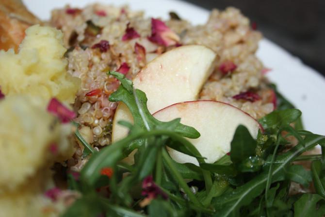Frisse lente salade van quinoa, venkel appel en sinaasappel