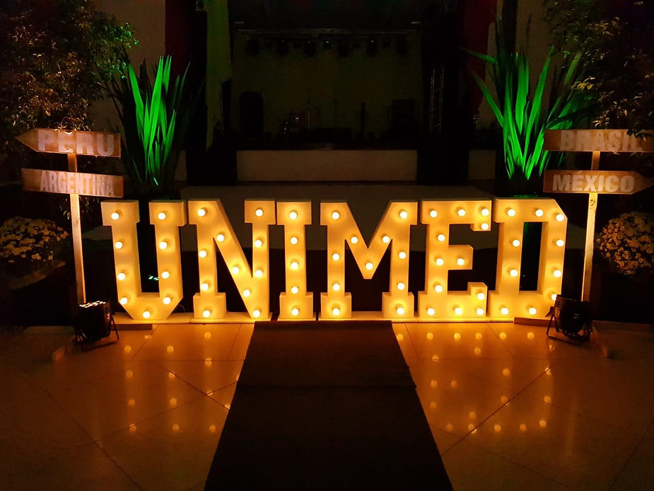 letras iluminadas luminosas led letra de led luz grande gigante 1 metro