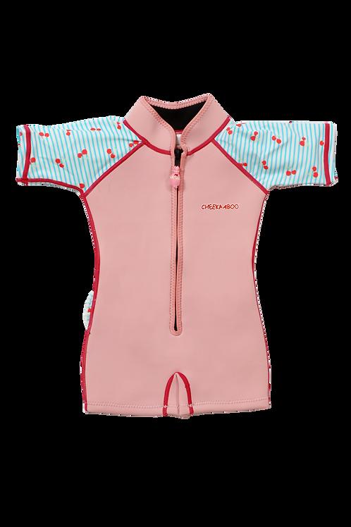 Wobbie Suit (Light Pink + Cherry)