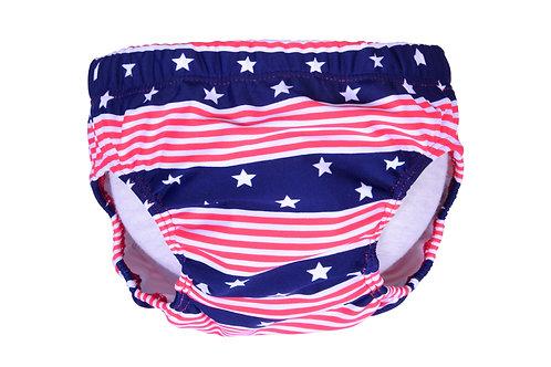 Swim Diaper (Red Stripe + Blue Star)