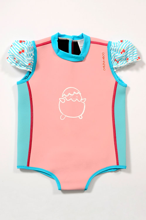 ChittyBabes Suit (Light Pink + Cherry)