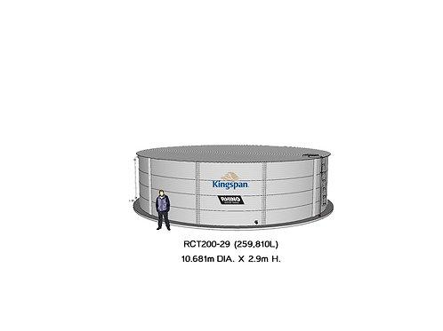 Tanks RCT 200-29 ( 259,810L) Dia: 10.681m, H: 2.9m