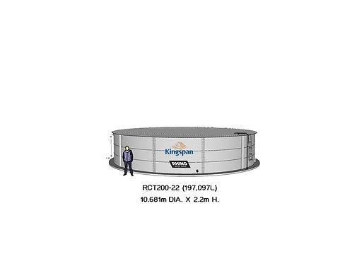 Tanks RCT 200-22 ( 197,097L) Dia: 10.681m, H: 2.2m