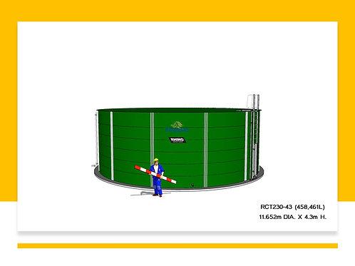 Tanks RCT 230-43 ( 458,461L) Dia: 11.652m, H: 4.3m