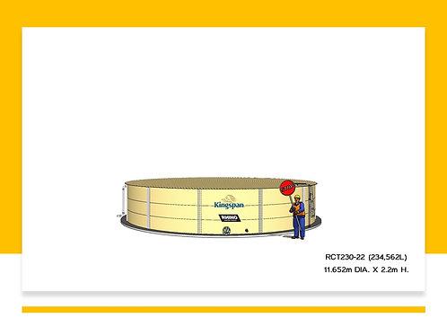 Tanks RCT 230-22 ( 234,562L) Dia: 11.652m, H: 2.2m