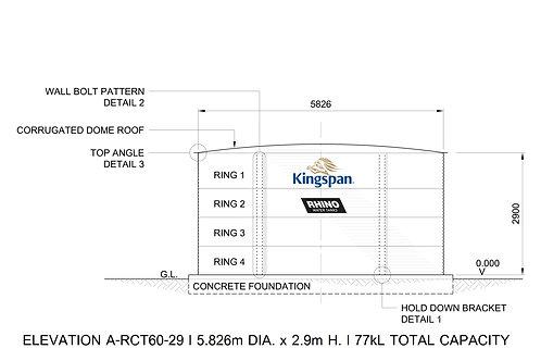 Tanks RCT 60-29 ( 77,299 L) Dia: 5.826m, H: 2.9m