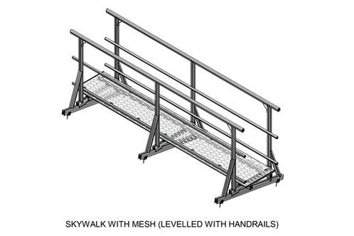 Skywalk With Mesh (Levelled With Handrails)