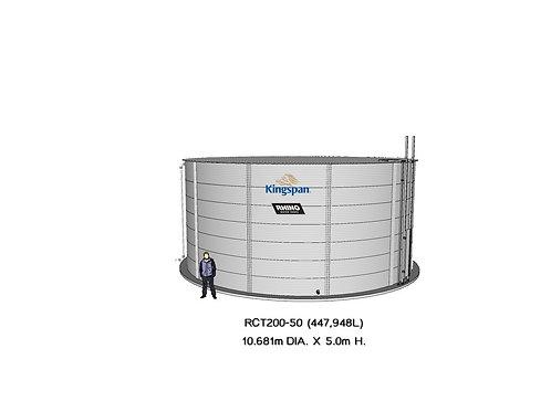 Tanks RCT 200-50 ( 447,948L) Dia: 10.681m, H: 5.0m