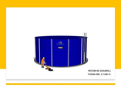Tanks RCT 230-50 ( 533,095L) Dia: 11.652m, H: 5.0m