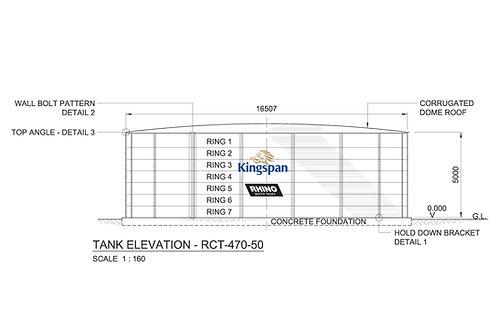 Tanks RCT-D-470-50 ( 1,069,891 L) Dia: 16.507m, H: 5.00m