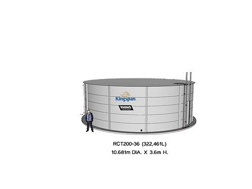 Tanks RCT 200-36 ( 322,461L) Dia: 10.681m, H: 3.6m