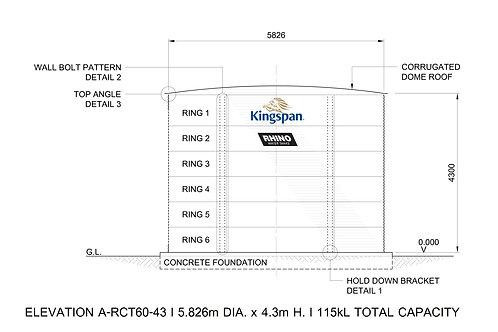 Tanks RCT  60-43 ( 114,615 L) Dia: 5.826m, H: 4.3m