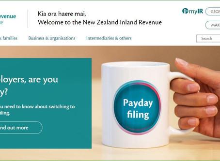 [Payday Filing] IRD 웹사이트를 통한 급여신고
