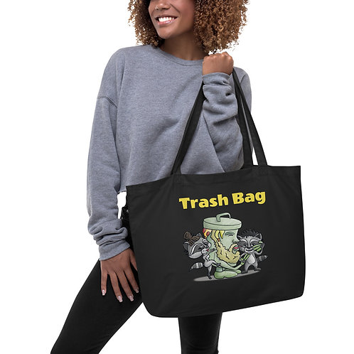 Large organic Trash tote bag