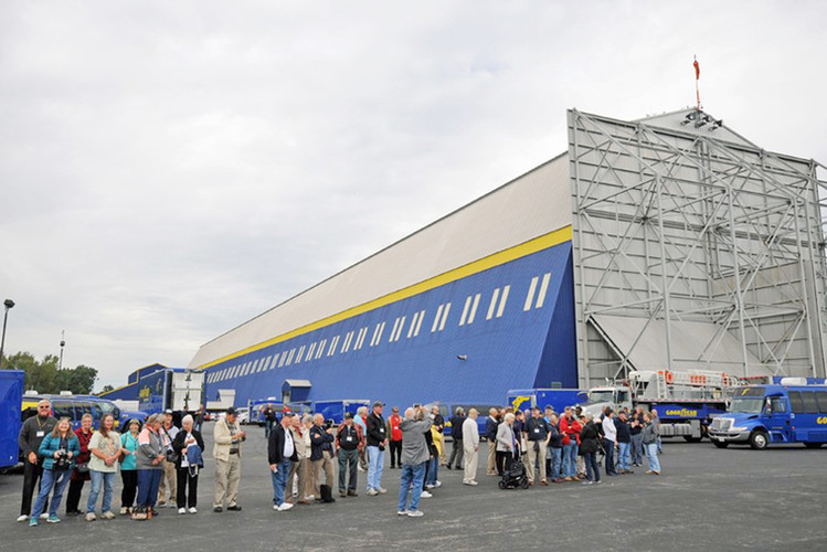 Group in front of hangar at WF Lake #2.j