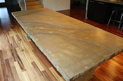 Stratified Concrete Table