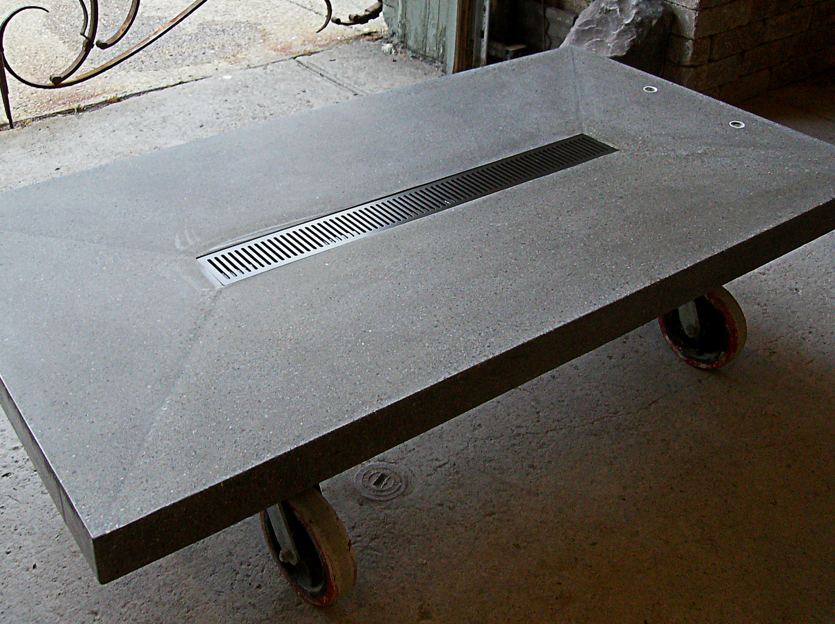 Concrete Table with Castors