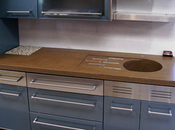 Sink with Metal Cabinets