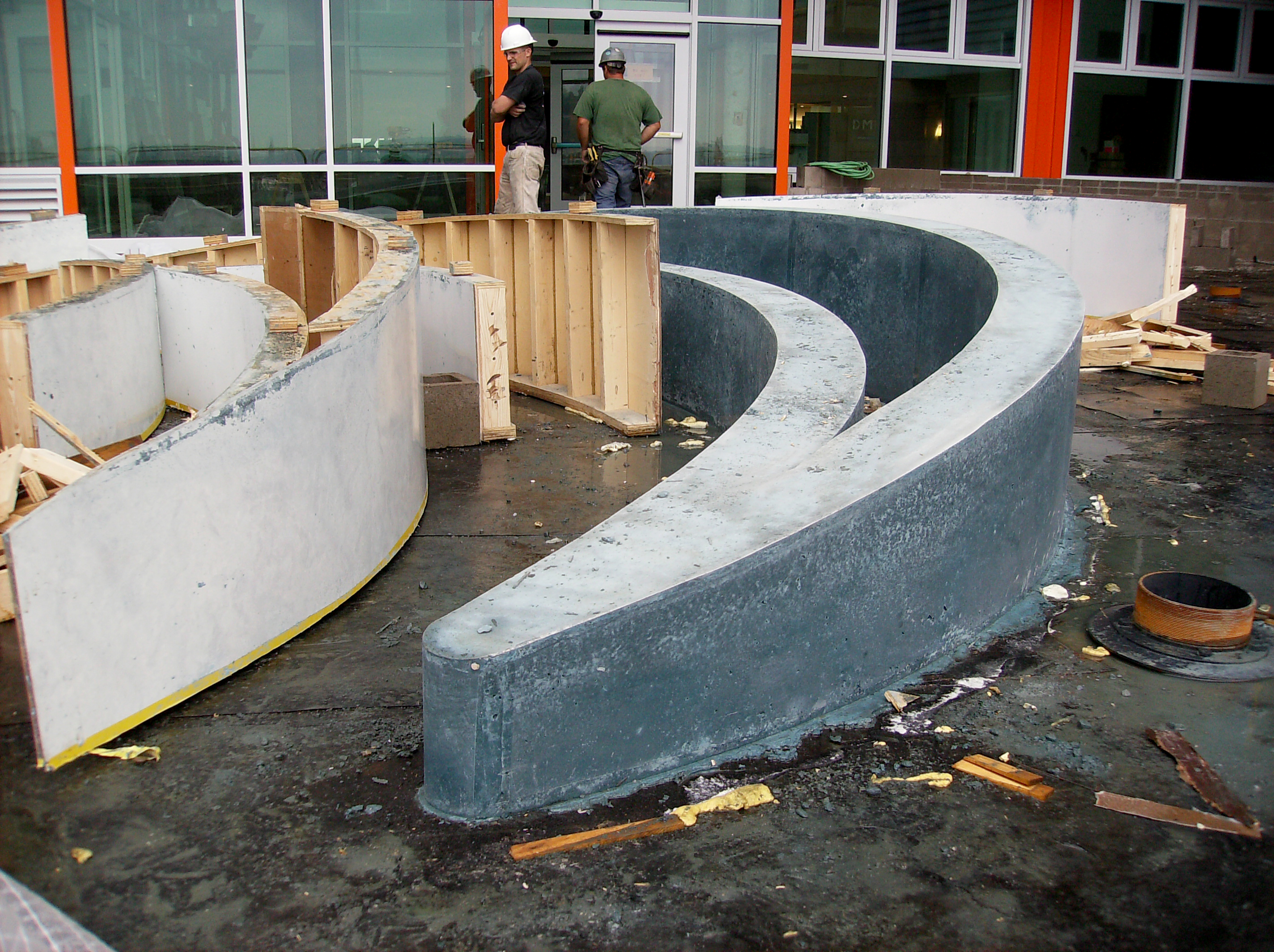 Concrete Planters Construction