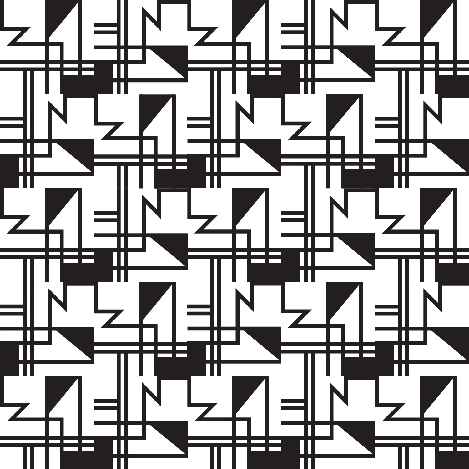 Final Black and White Pattern