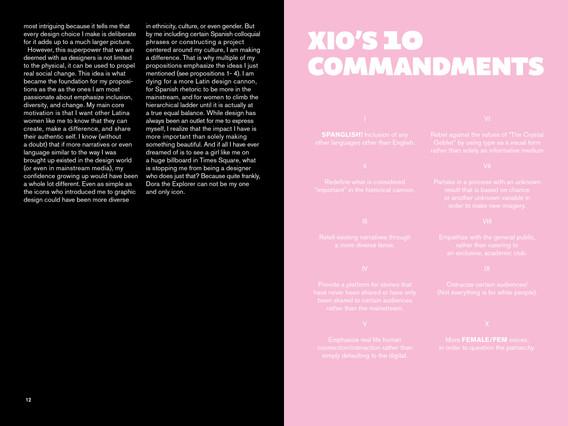 Xio's 10 Commandments