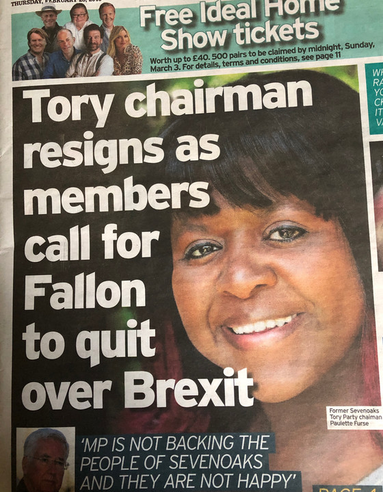 Chairman exits over Brexit!