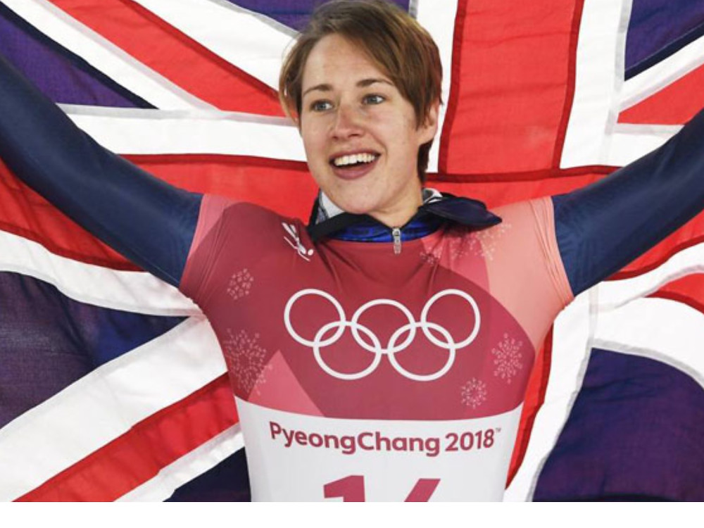 Lizzy winning Gold in Pyeong Chang