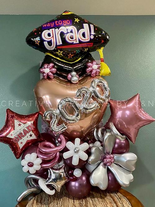 Jumbo Heart Graduation Bouquet
