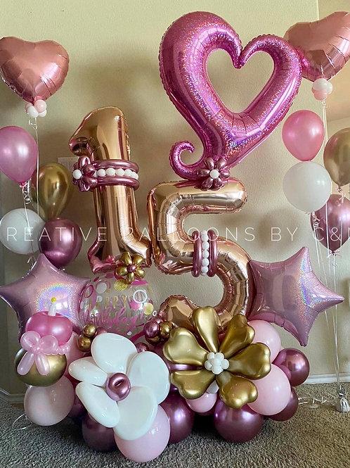 Heart Birthday Bouquet